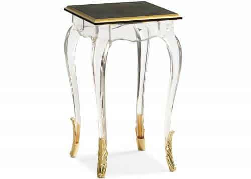 table d'appoint en acrylique
