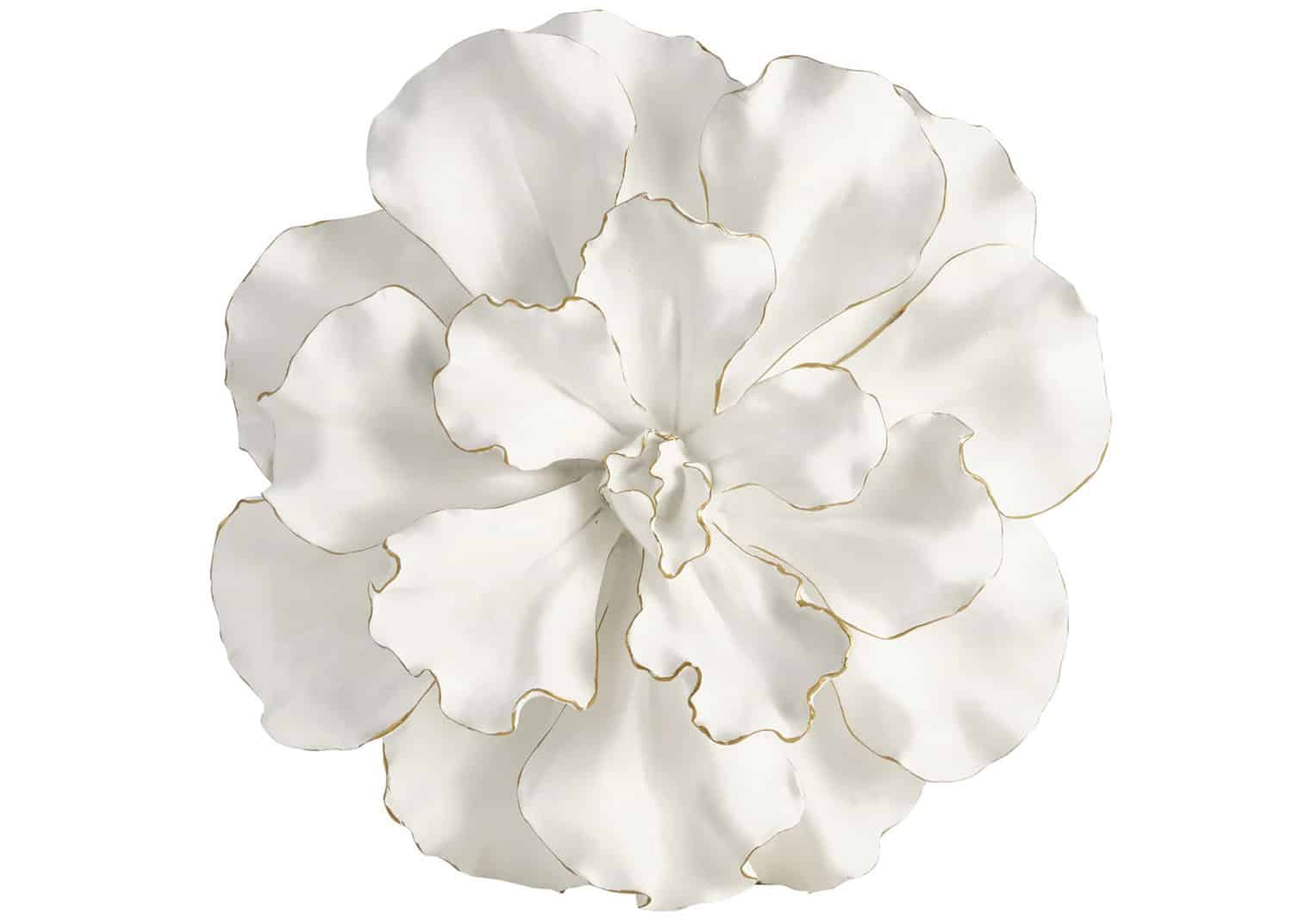 White flower wall plaque
