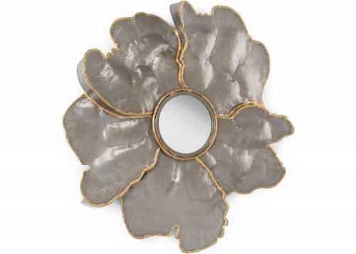 miroir fleur métalique
