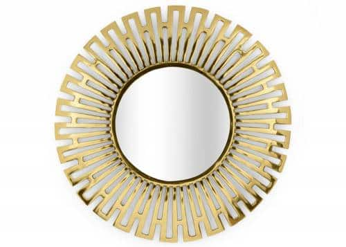 miroir ronde laiton poli