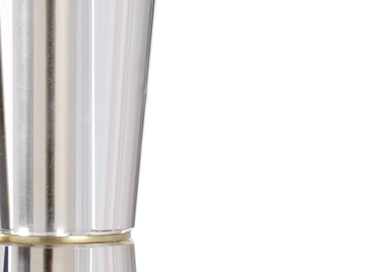 lampe de table en cristal et laiton
