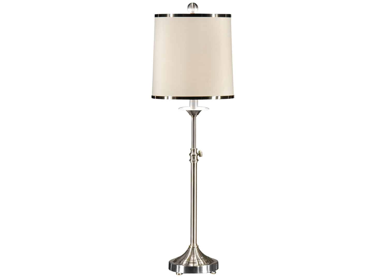 brushed nickel accent lamp